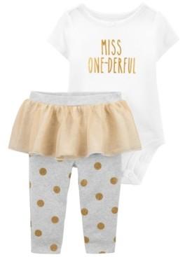 Carter's Baby Girl Birthday Bodysuit and Tutu Pant Set