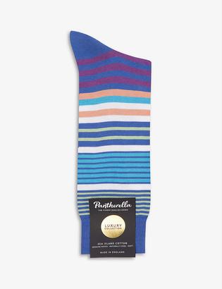 Pantherella Sea Island striped cotton-blend socks