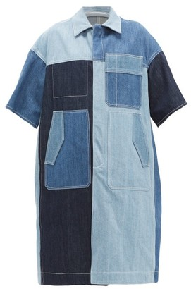 Marni Patchwork Denim Coat - Womens - Denim