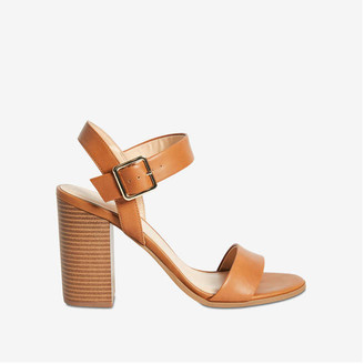 Joe Fresh Women's Buckle Strap Sandals, Tan (Size 8)