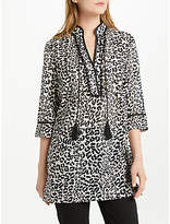 Oui Leopard Print Tunic Dress, Off White/Grey
