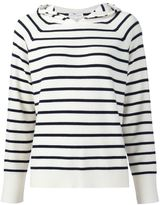 Chinti and Parker striped hooded jumper