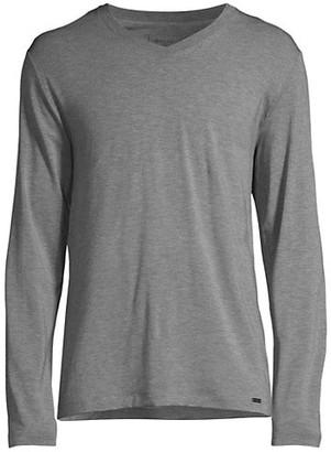 Hanro Casuals Long-Sleeve V-Neck T-Shirt