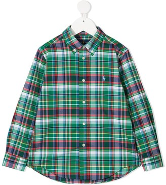 Ralph Lauren Kids Tartan Long-Sleeve Shirt