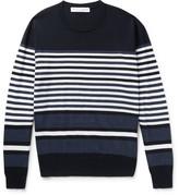Orlebar Brown Lucas Striped Merino Wool Sweater - Navy