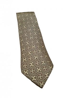 Hermã ̈S HermAs Gold Silk Ties