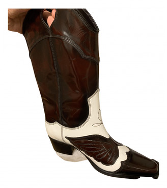 Ganni Spring Summer 2019 Brown Leather Boots