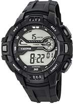 Calypso Men's Digital Watch with LCD Dial Digital Display and Black Plastic Strap K5695/1