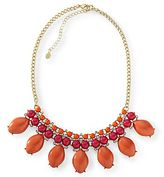 JCPenney Pink & Orange Cabochon Statement Necklace