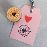 STUDY Asking For Trouble Jammie Dodger Biscuit Polymer Stamp