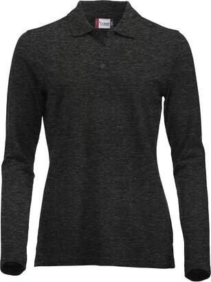 Clique Clothing Ladies Classic Pure Cotton Long Sleeve Polo Shirt. Modern fit 11 Vibrant Colours XS-2XL (S