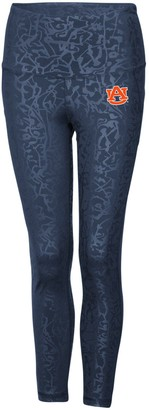 Colosseum Women's Navy Auburn Tigers Chasse Textured Leggings