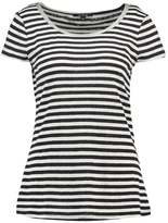 Comma Print Tshirt white/dark blue