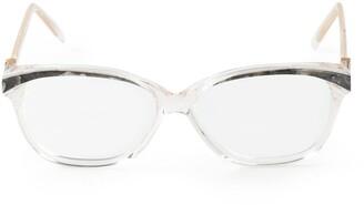 Yves Saint Laurent Pre-Owned Marble Detailing Glasses