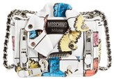 Moschino 'Small Biker Jacket - Floral Print' Shoulder/crossbody Bag - White