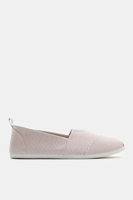 Ardene Striped Slip-On Sneakers - Shoes |