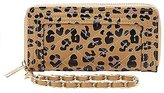 Charlotte Russe Leopard Quilted Wristlet Wallet