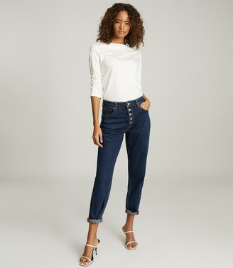 Reiss FAYE STRAIGHT NECK TOP White