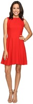 Christin Michaels Keira Fit and Flare Dress with Whipstitch Detail