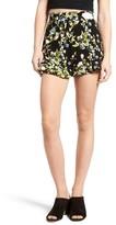 Leith Women's Floral Print Flounce Shorts