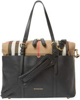 Burberry Cotton Check & Leather Baby Bag