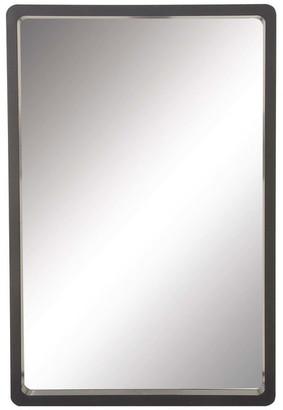 Brimfield & May Contemporary Rectangular MDF Wood Wall Mirror, Black