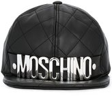 Moschino quilted logo plaque cap - unisex - Sheep Skin/Shearling/Polyester/Rayon - M
