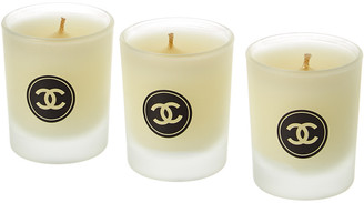 Chanel Cc Circle 3Pc Candle Set