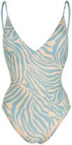 Thumbnail for your product : Anjuna Zebra-Print Open-Back One-Piece