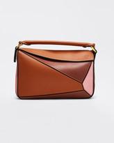 Loewe Puzzle Colorblock Leather Mini Satchel Bag