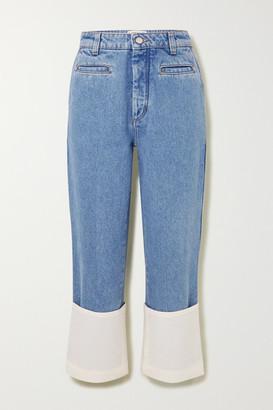 Loewe Fisherman High-rise Straight-leg Jeans - Blue