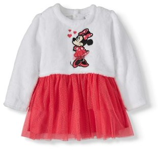 Disney Minnie Mouse Baby Girl Panne Tutu Dress & Diaper Cover, 2pc Set