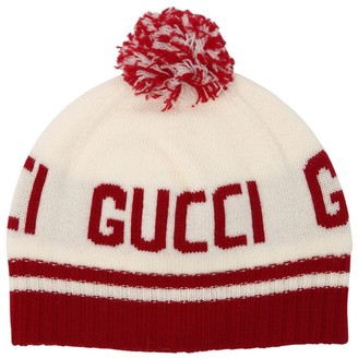 Gucci Logo Intarsia Knitted Wool Hat