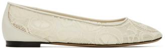 Chloé Off-White Lauren Lace Flat