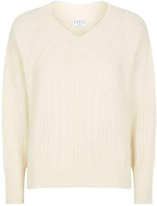 Claudie Pierlot Cable-Knit Sweater