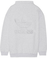 adidas Embossed Cotton-blend Fleece Sweatshirt - Light gray