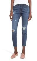 Caslon Women's Rip & Repair Ankle Skinny Jeans