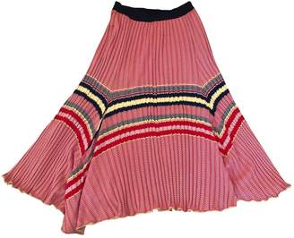 Celine Red Viscose Skirts
