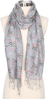 Betseyville by Betsey Johnson Gray Candy Cane Bouquet Scarf