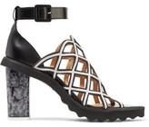 Carven Cutout Leather Sandals