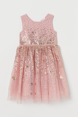 H&M Tulle Dress with Sequins - Pink