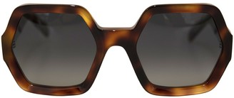 Celine Blonde Havana Oversize Sunglasses