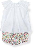 Ralph Lauren Girl Cotton Top & Floral Bloomer