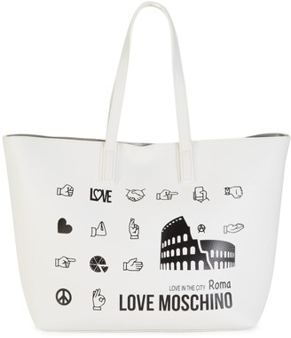 Love Moschino Love In The City Roma Faux Leather Tote