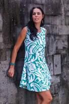 Sleeveless Cotton Sundress, 'Balinese Paradise'