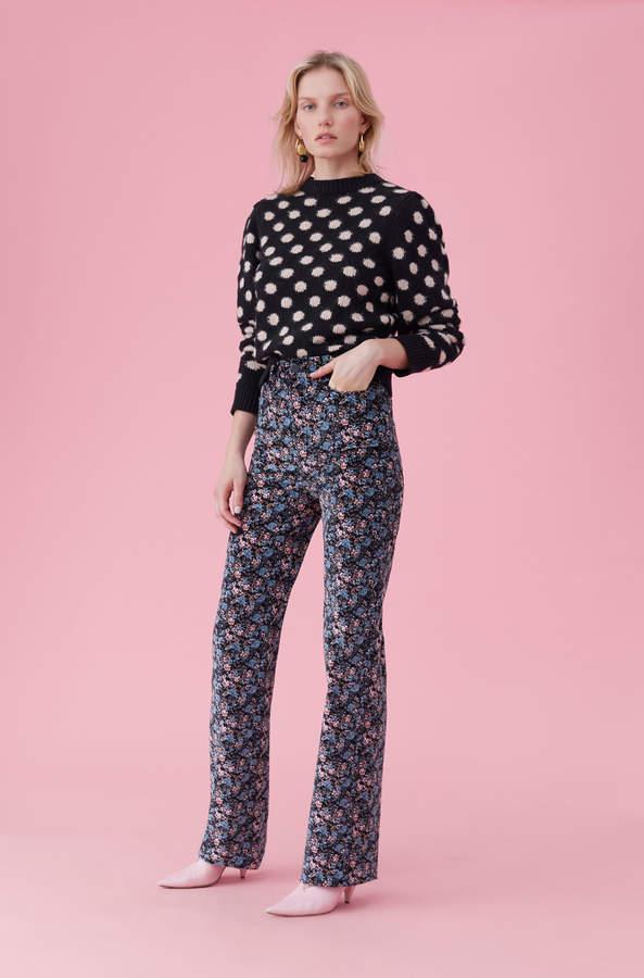 Rebecca Taylor La Vie Jacquard Dot Pullover