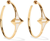 Noir Gold-tone enamel earrings