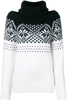 Monse Snowflake Cold Shoulder Jumper