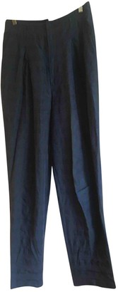 Strenesse Blue Linen Trousers for Women