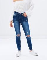 One Teaspoon Bonnie Blue High Waist Freebirds II Jeans